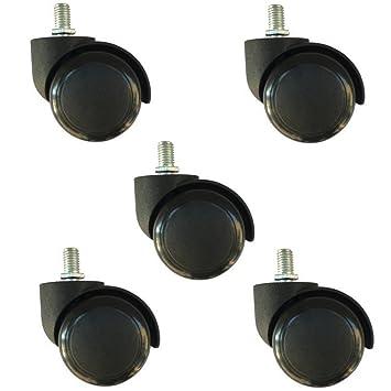 ktroman - Ruedas de Poliuretano para Silla de Oficina (50 mm, 5 Unidades,