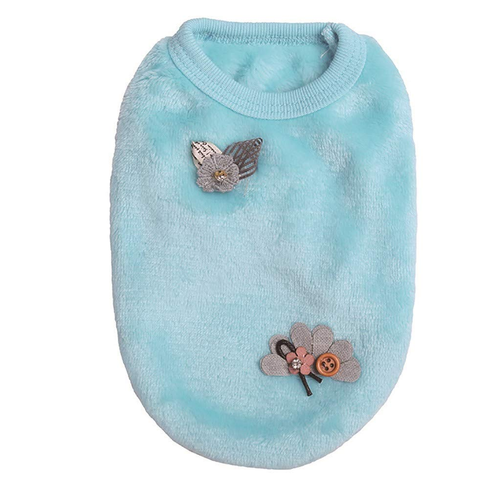 Pet Cute Dog Puppy Clothing Duseedik Small Soft Coats Teacup Dogs Pullover oodie Coat