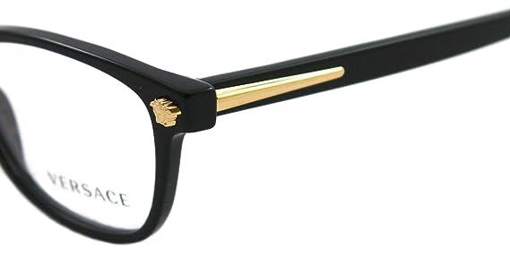 fdc02a409a28 Versace Eyeglasses VE 3153 BLACK 945 VE3153: Versace: Amazon.co.uk: Clothing
