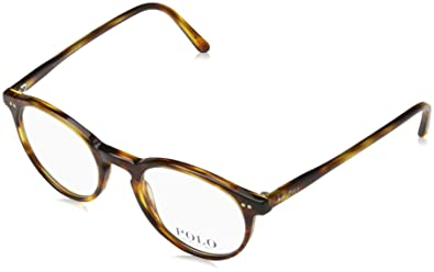 Amazon.com  Polo Men s PH2083 Eyeglasses Havana Striped 48mm  Shoes 08c1233778