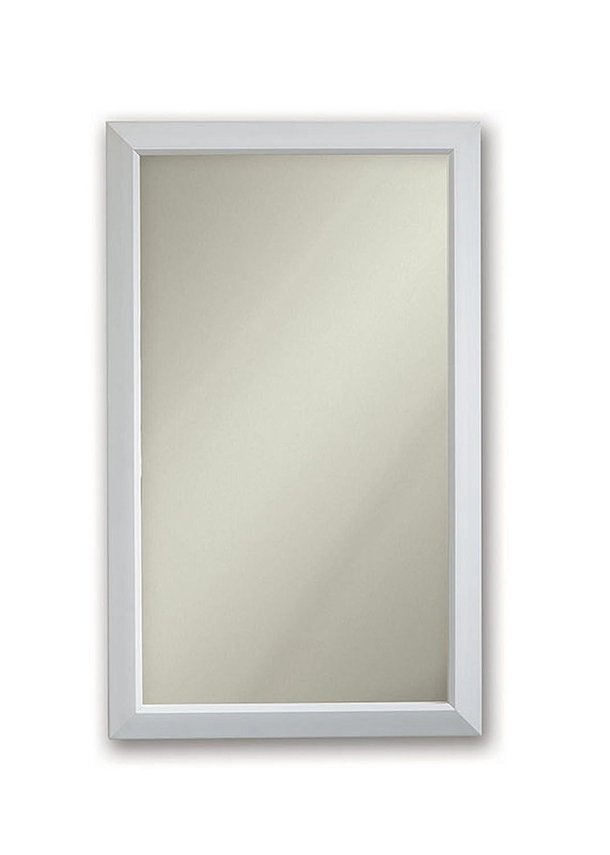 Jensen 625N244WHCX Gloss White Frame Medicine Cabinet, 15.75 x 25.5