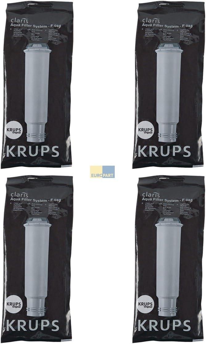 Krups Filtro descalcificador para cafeteras (4 unidades): Amazon ...