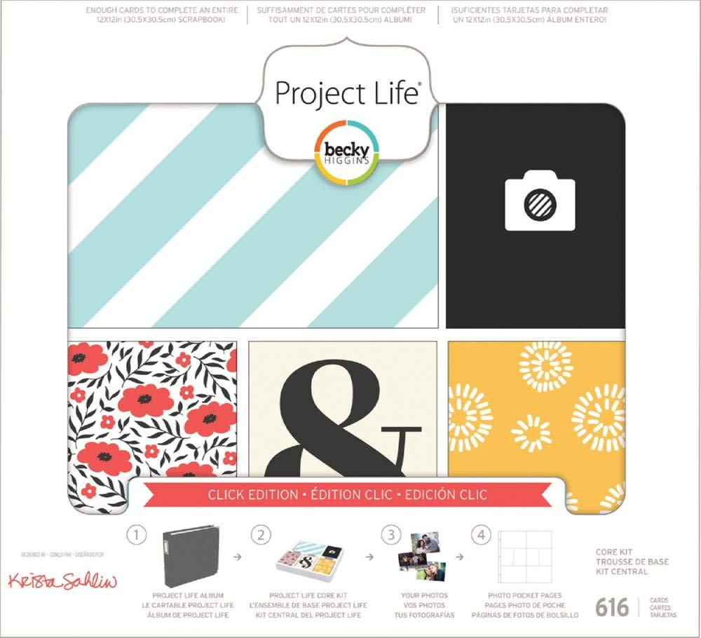 Project Life Core Kit Core Edition-Click (616 Pieces) by Project Life