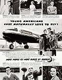 1950 Ad Douglas Aircraft DC-6 Airplane Thirtieth Anniversary Year Young Moderns - Original Print Ad