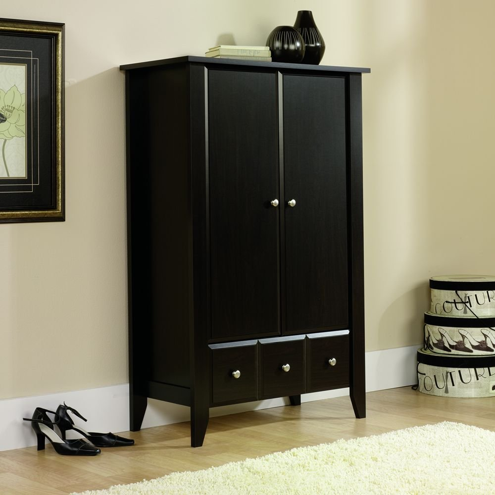 Sauder Kitchen Furniture Amazoncom Sauder Shoal Creek Armoire Jamocha Wood Kitchen Dining