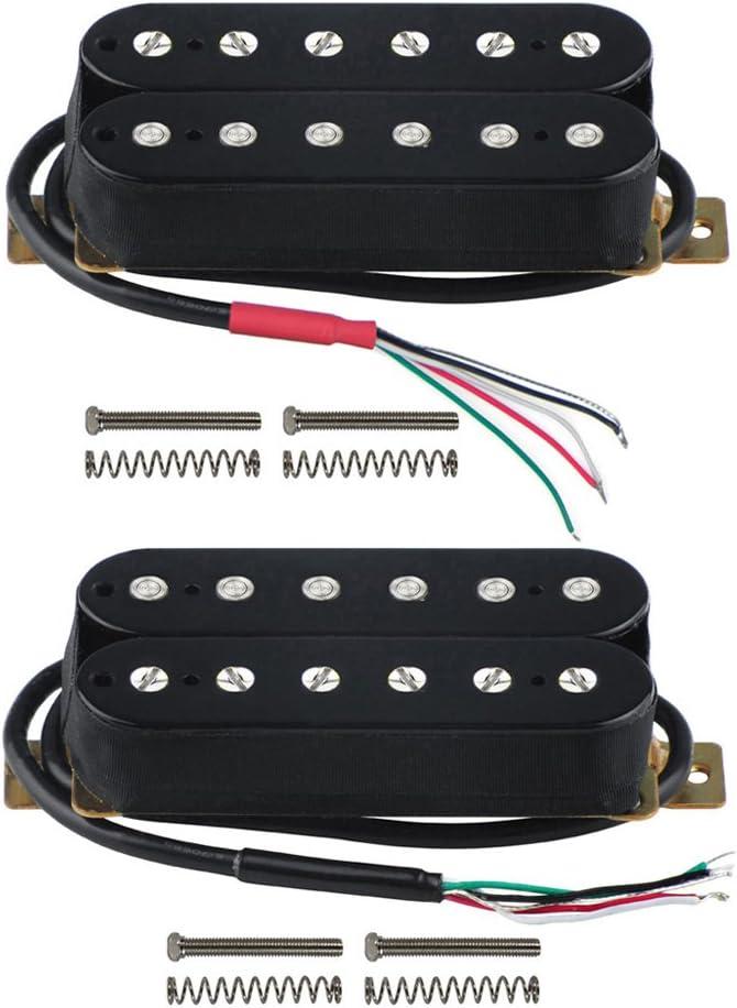 FLEOR Electric Guitar Humbucker Pickups Double Coil Guitar Bridge Pickup /& Neck Pickups Set Black