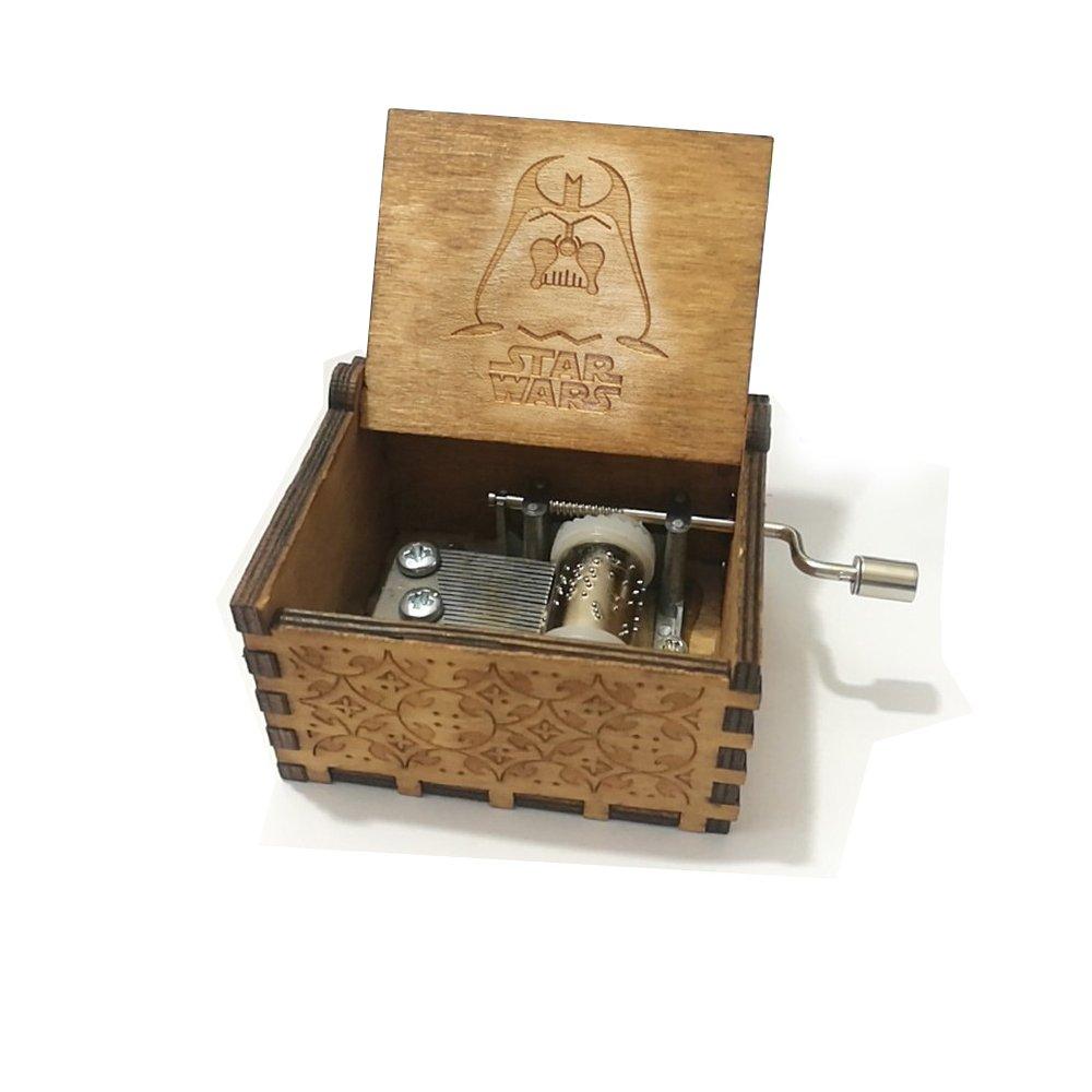 Carillon Star Wars in pura mano-classica carillon in legno a mano creativo in legno artigianato migliori Regali BADARENXS