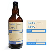 Home Brew Online Premium Quality Water Proof Labels - Home Brew In Blue 40 Pack