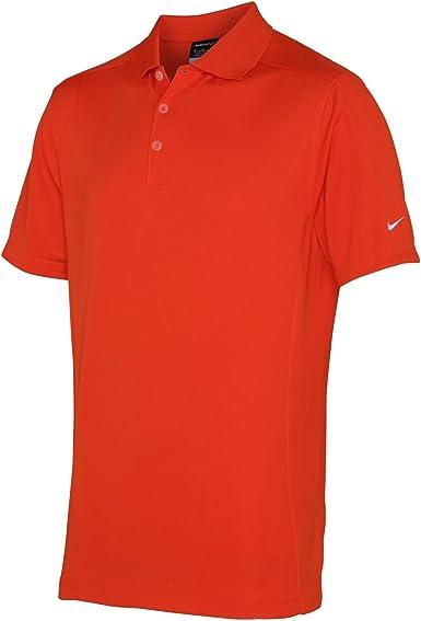 Nike Mens Dri-Fit Sports Polo Shirt (S) (Team Orange) at Amazon ...