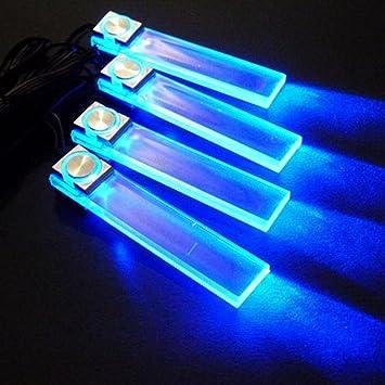 Lámpara de pie azul 4 en 1 12 V, luces LED decorativas para ambiente de coche, de carga interior: Amazon.es: Coche y moto