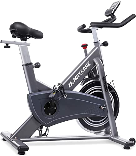 MaxKare Magnetic Exercise Bike Stationary Bike with Magnetic Resistance Indoor Cycling Bike Belt Drive with 5 Magnets 264 Weight Capacity for Home Use