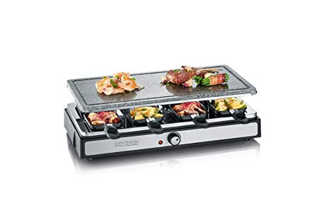 SEVERIN RG 2343 Raclette-Partygrill con Piedra Natural, 1.500 W aprox., Incl