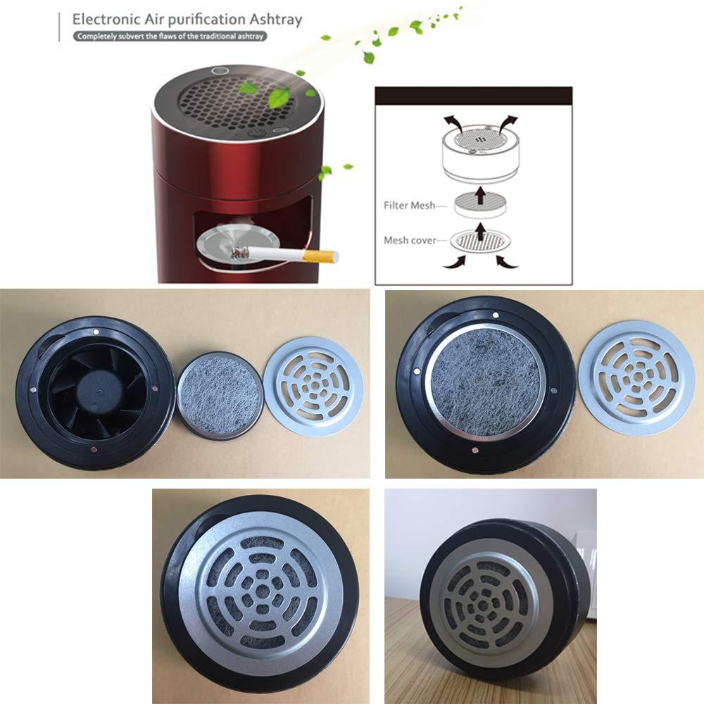 Paquete de 2 Bora Purificador de Aire Multicapa Filtro de Repuesto HEPA con carb/ón Activado Compatible con Purificador de Aire Cenicero Electr/ónico
