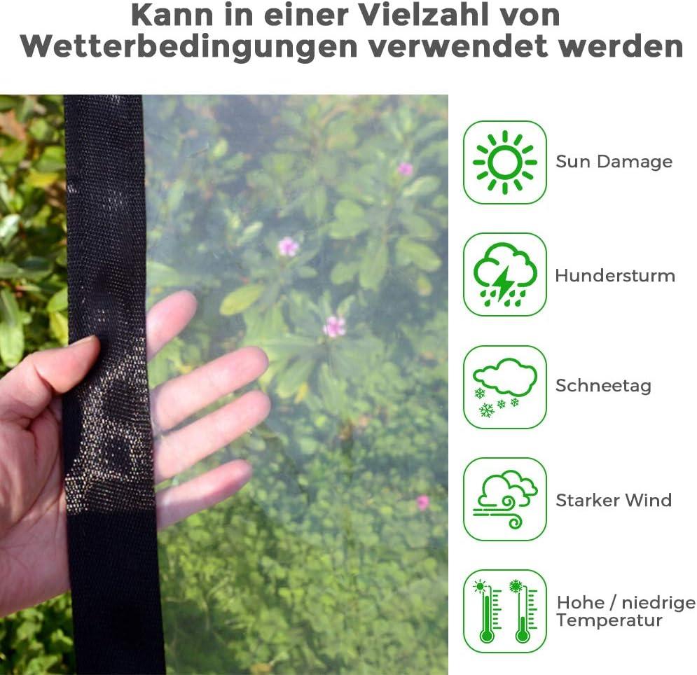 resistente al agua Lona de lona transparente resistente al agua y a prueba de aceite a prueba de polvo antiedad Moonvvin