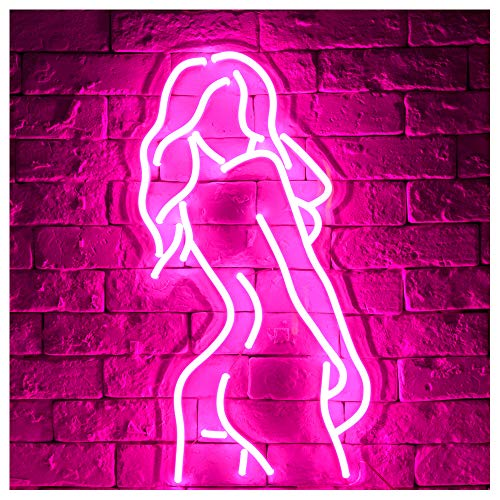 Goddess Sexy Lady Back LED Neon ...