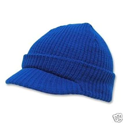 Amazon.com  Royal Blue GI Jeep Cap Knit Beanie Skully Winter Hat Radar  Style Military Campus  Sports   Outdoors 7e29a3a4aa9