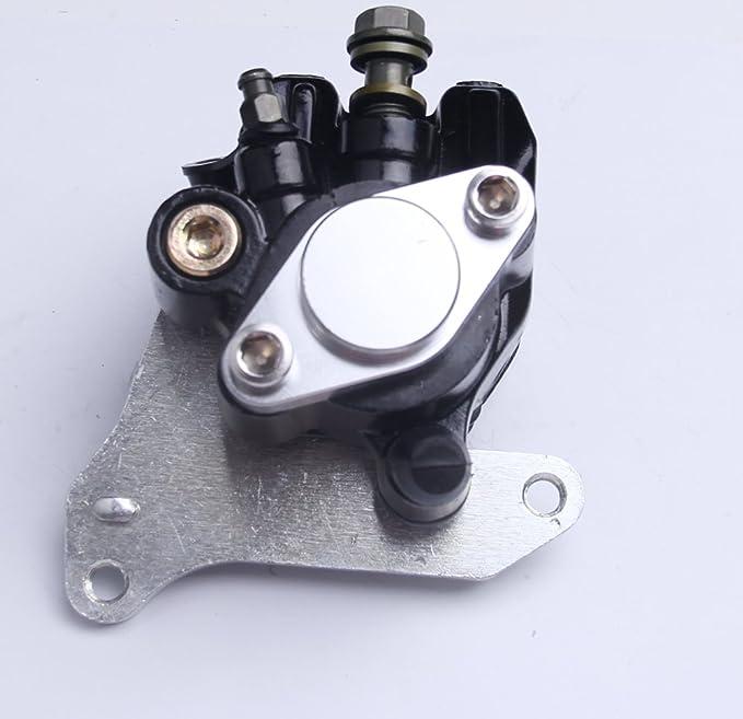 BH-Motor Nueva pinza de freno trasera para Honda Sportrax 400 TRX 400X TRX400X TRX 400EX TRX400EX 2009-2014 1999-2014 con almohadilla y soporte