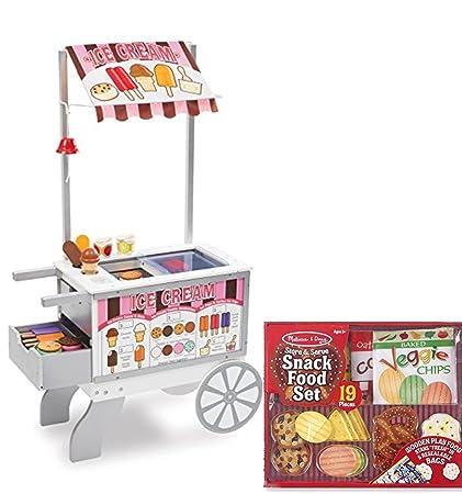 Amazon Com Melissa Doug Wooden Snacks And Sweets Food