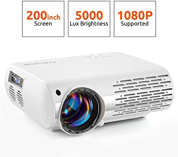 Crenova proyector de vídeo, 5000 Lux Home Movie proyector (550 ...