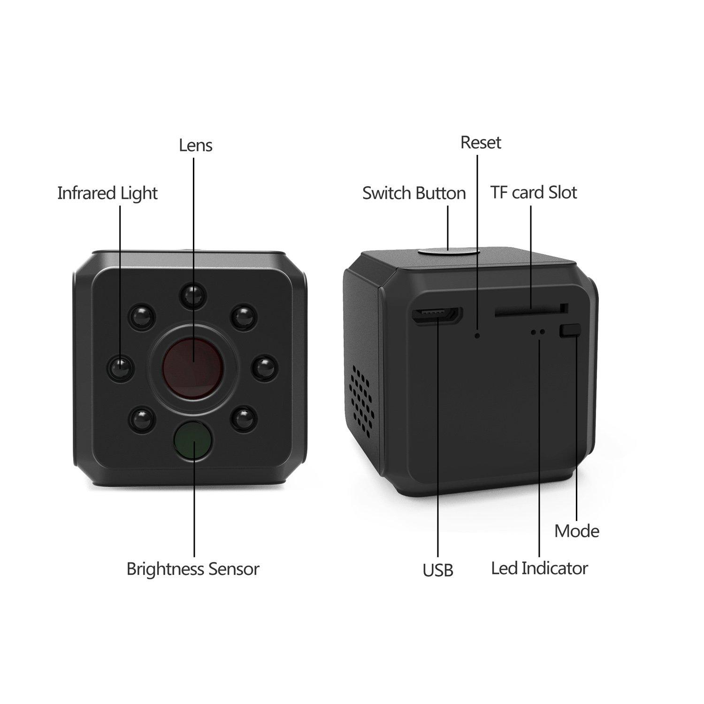 Mini Wifi Camera, Ehomful Portable Small Hidden Spy Video Recorder ...