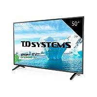 Téléviseur 50 Pouces LED HD Smart TD Systems K50DLM8FS. TV Full HD 1920 x 1080, 3X HDMI, VGA, 2X USB, Smart TV.