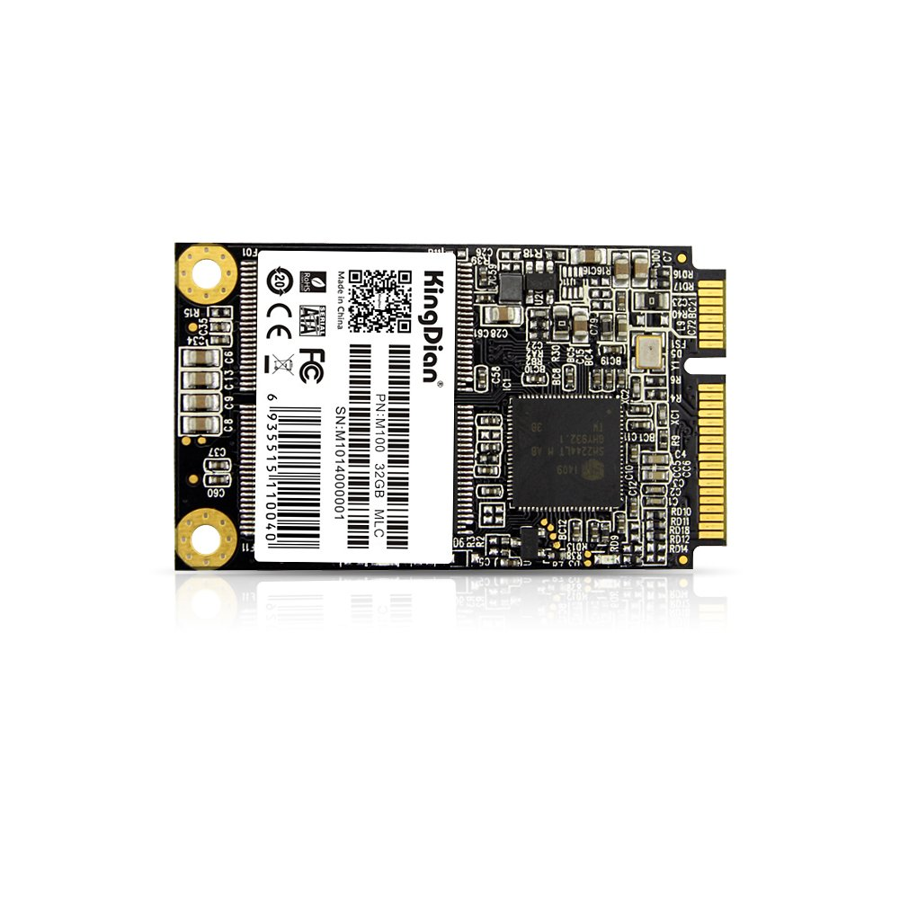 KingDian M-SATA SATA II Internal Solid State Drive 32GB Speed Upgrade Kit for Desktop PCs and MacPro by M-SATA