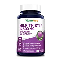 Milk Thistle Extract 12500mg 200 Veggie Capsules (Vegetarian,Organic Milk Thistle...