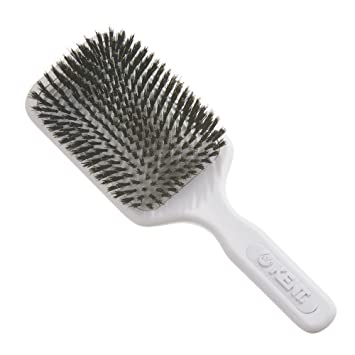 KENT AH12W Airhedz Pro Pure Bristle Paddle Brush (Extra Large, White)