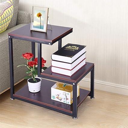 Amazon.com: Sodoop Nightstand Storage Shelf, 3-Tier Chair ...