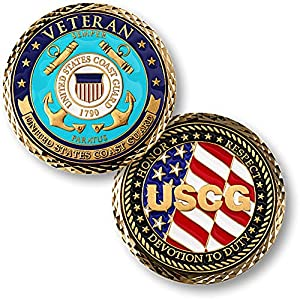 U.S. Coast Guard Veteran Challenge Coin from Armed Forces Depot