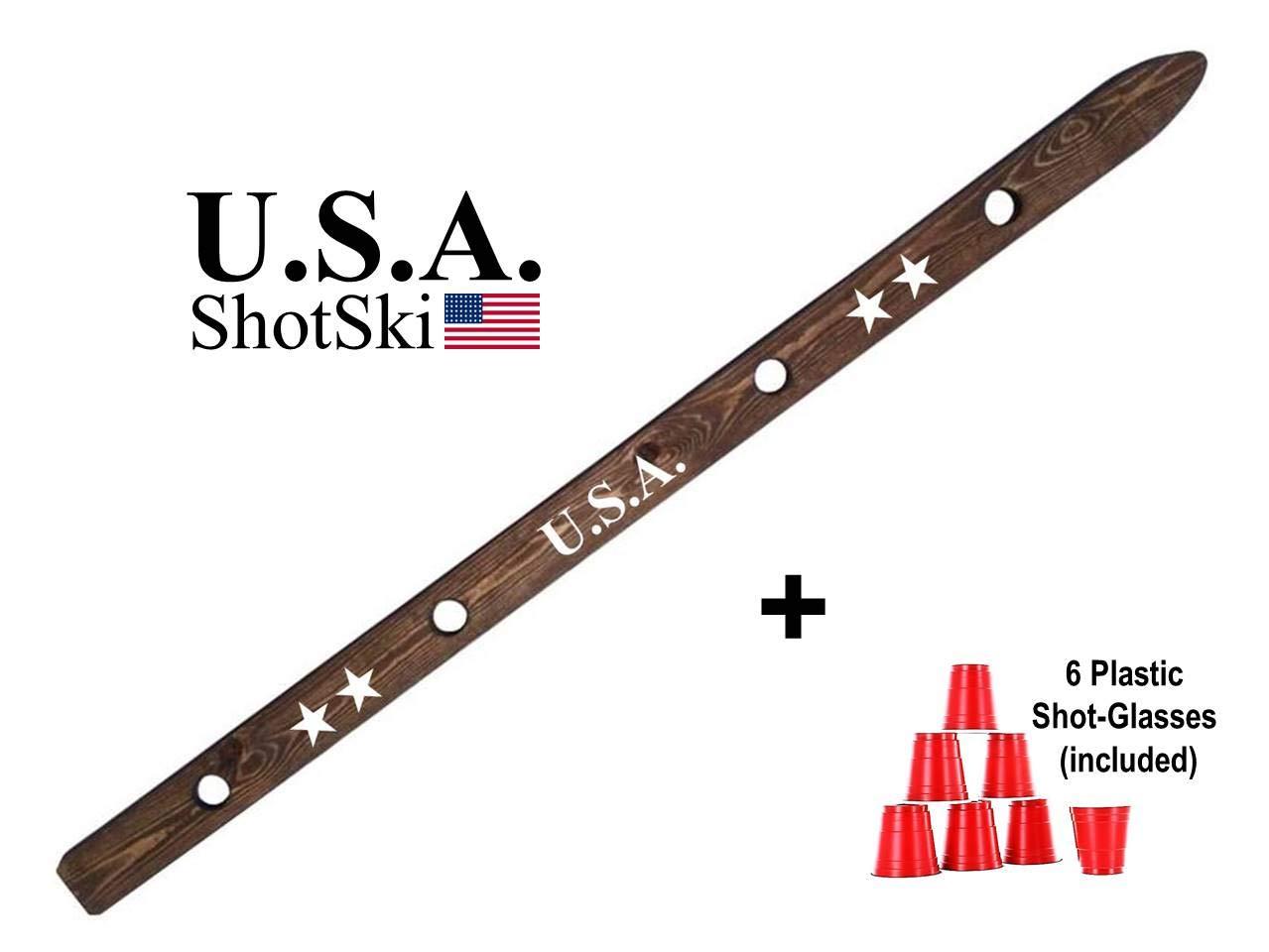 ShotSki USA Wood Shot Ski