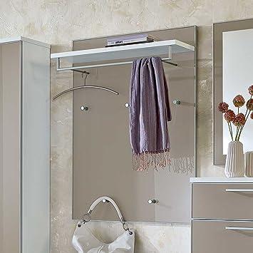 wandpaneel garderobe in taupe glas weiß pharao24: amazon.de: küche ... - Küche Wandpaneel Glas