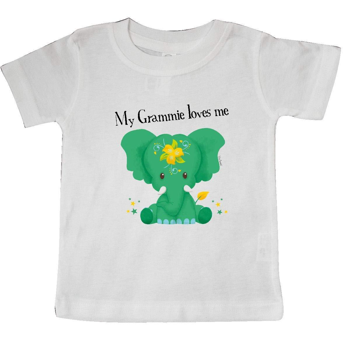 Tiny Tusks inktastic Kondo Grammie Loves Me Green Elephant Nature Baby T-Shirt