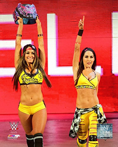 WWE Bella Twins 2015 Action Photo (Size: 8