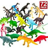 ValeforToy 72 Piece Mini Dinosaur Toy Set