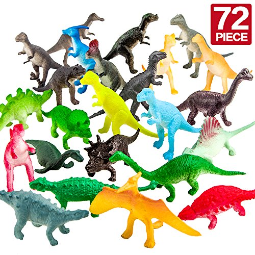 ValeforToy 72 Piece Mini Dinosaur Toy Set]()