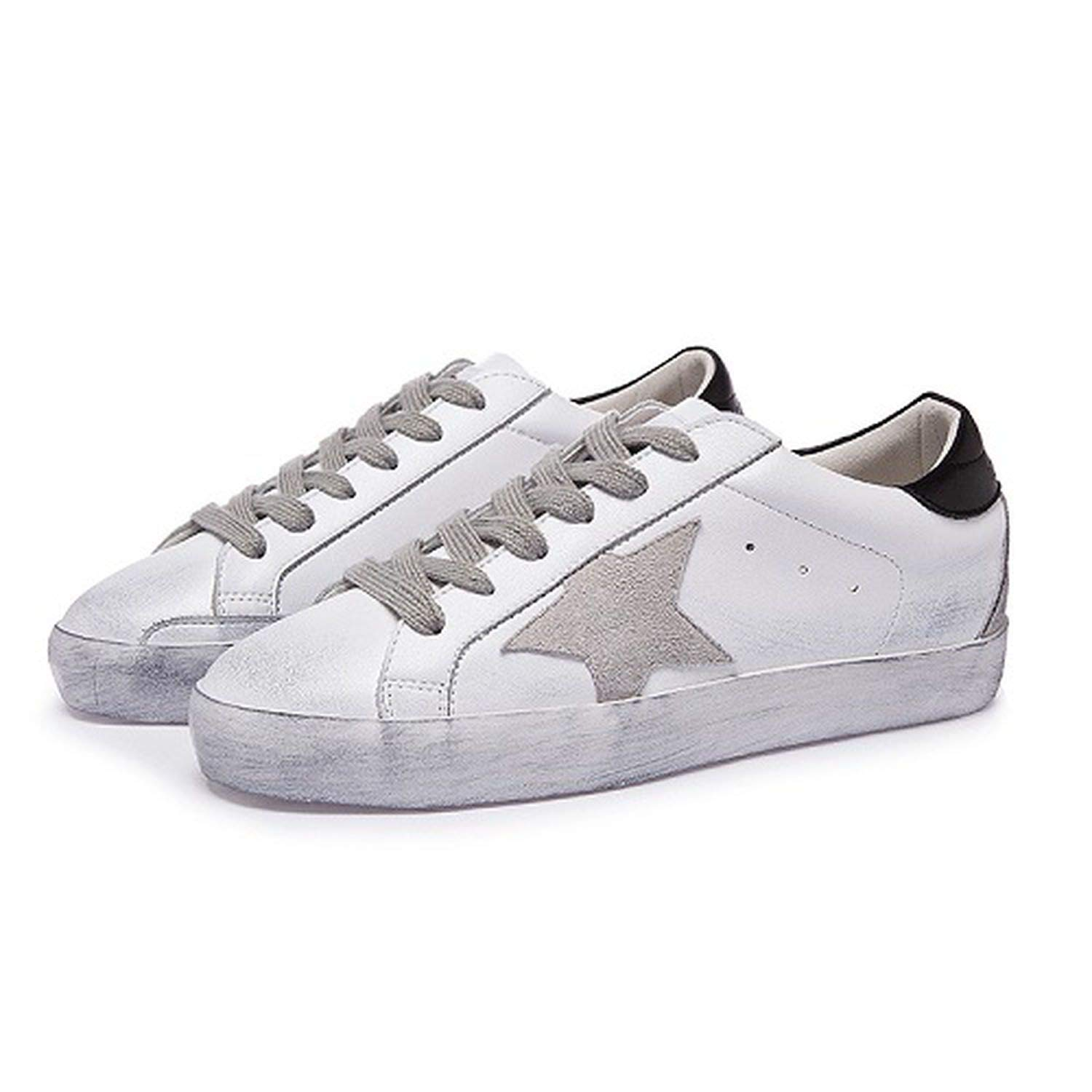 Amazon.com | Classic Brand Italy Golden Genuine Leather Casual Shoes Women Trainers Goose Star Vintage | Fashion Sneakers