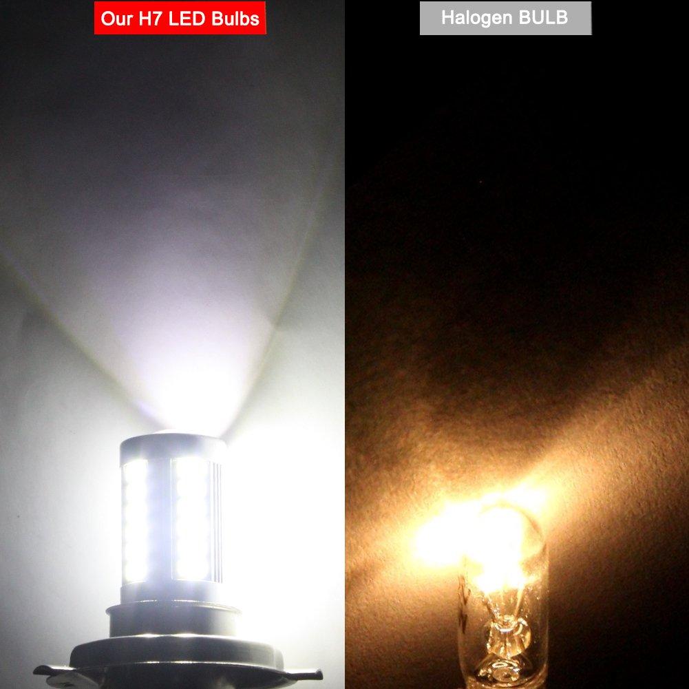 lot de 2 Biqing H4//9003//HB2 LED brouillard ampoule DRL Feux de conduite DRL haute basse Faisceau 33 SMD 5630 Puce avec Vid/éoprojecteur 12 V 6.6 W 800 lumens Blanc 6500 K pour auto Auto Moto