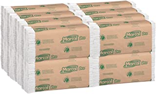product image for Marcal Pro C-Fold Paper Towels, 100 % Recycled 1-Ply, 150 Folded Towels Per Pack, 16 Packs Per Case - 2400 Disposable Green Seal Certified Paper Towels P100B
