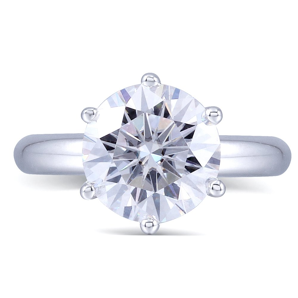 2CTW Color (H) Moissanite Wedding Ring in 925 Sterling Silver by TransGems (7)