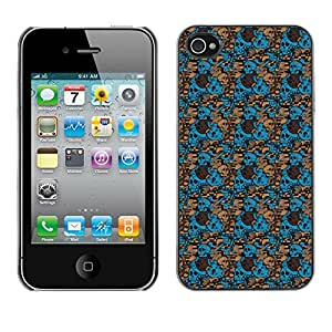 ZECASE Funda Carcasa Tapa Case Cover Para Apple iPhone 4 / 4S No.0001759