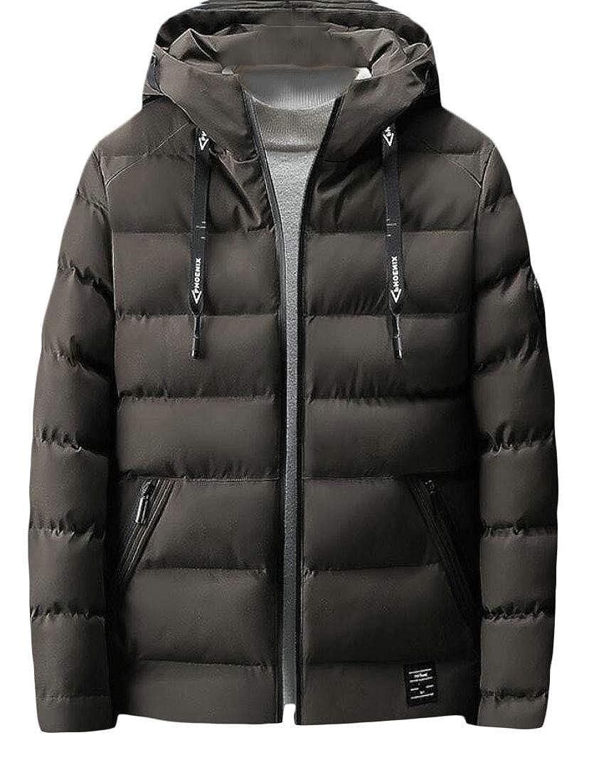 desolateness Men Winter Hoodie Outwear Thicken Warm Down Jacket Coat