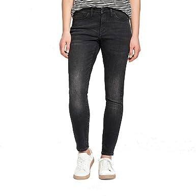 5f8779fa9cb6 Universal Thread Women's High-Rise Skinny Jeans Black at Amazon ...
