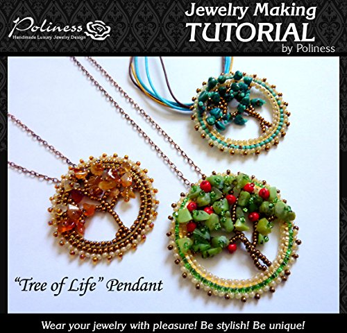 DIY Jewelry making Tutorial Tree of Life, Practical Step by step Guide on How to make Handmade Beaded Pendant with Swarovski, Toho bead and Miyuki Delica Beads (How To Make Swarovski Jewelry)