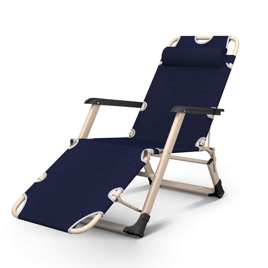 屋外用折りたたみデッキチェア背もたれアームチェアビーチ サンラウンジャーキャンプチェアパティオガーデンチェア妊娠中の女性のリクライニングチェア休憩椅子 (色 : E) B07RR1YTHJ E