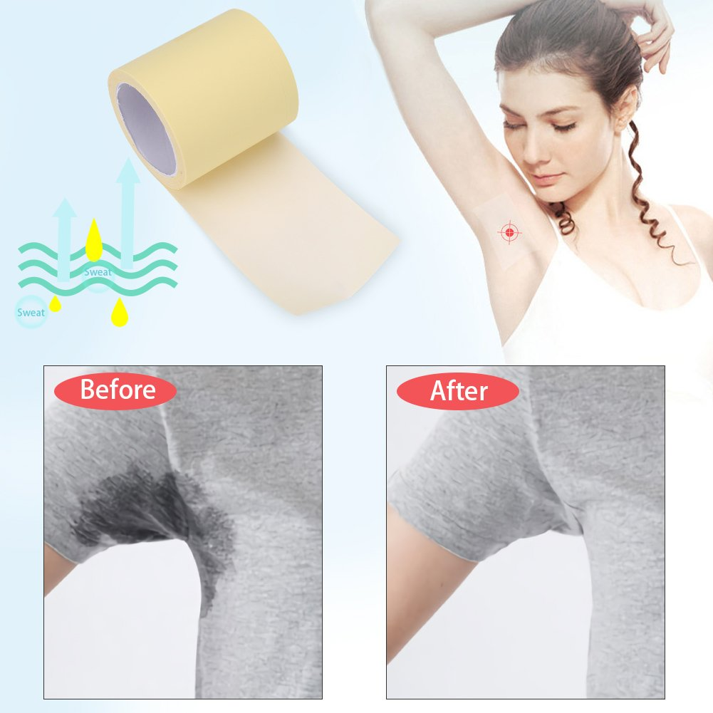 Underarm Absorbing Sweat Pads Transpapent Armpit Antiperspirant Sticker Disposable Prevention Pads Perspiration Absorbent Deodorant Khan Antiperspirant For Men Women Kids
