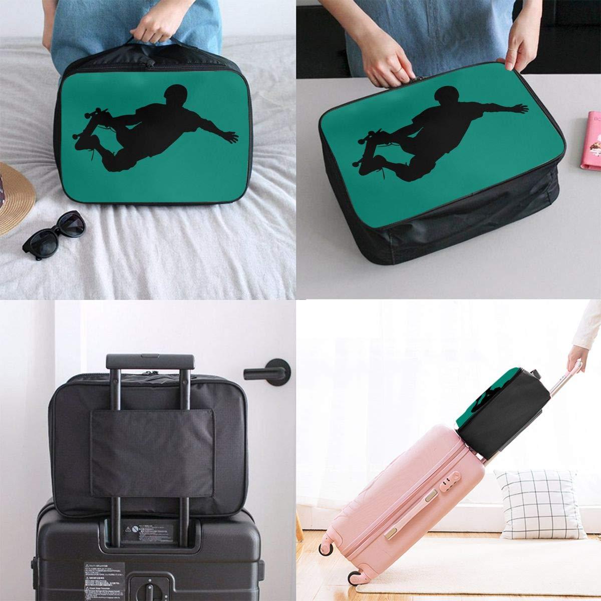 Travel Luggage Duffle Bag Lightweight Portable Handbag Skate Large Capacity Waterproof Foldable Storage Tote