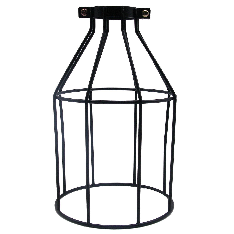 Vintage Metall Draht Käfig Lampenschirm - Modern Industrielle DIY Halter Zubehör Schatten für Fan Lampe Stehlampe Wandleuchte Deckleuchte Hängeleuchten Pendelleuchten Küchen Esszimmer YIKEGE