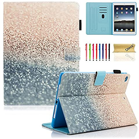 New iPad 9.7 inch 2017 Case / iPad Air Case / iPad Air 2 Case, Dteck PU Leather Folio Smart Cover with Auto Sleep Wake Stand Wallet Case for New iPad 9.7 Inch 2017,iPad Air 1 2, Beach (Ipad Air 2 Cover Printed)