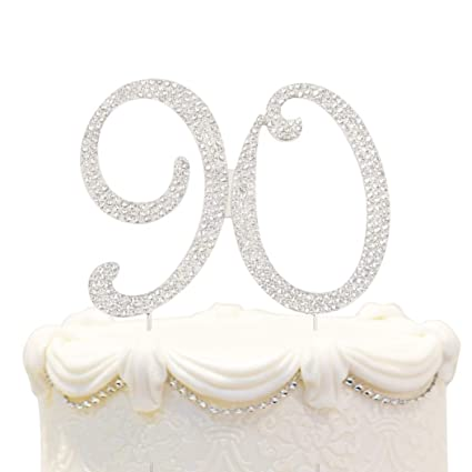 Amazon Bling Crystal 90 Birthday Cake Topper